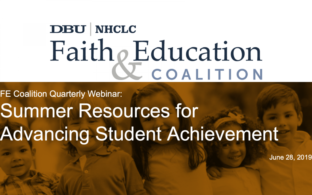 Summer Resources for Advancing Student Achievement: Webinar Summary