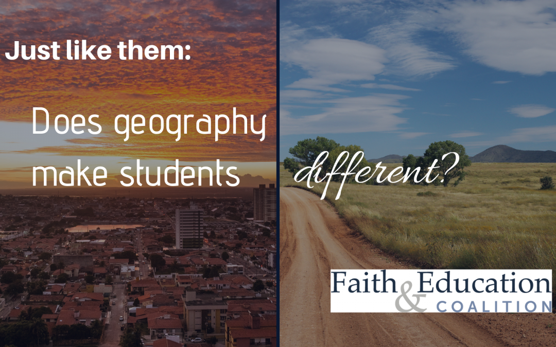 Just like them: Does geography makes students different?