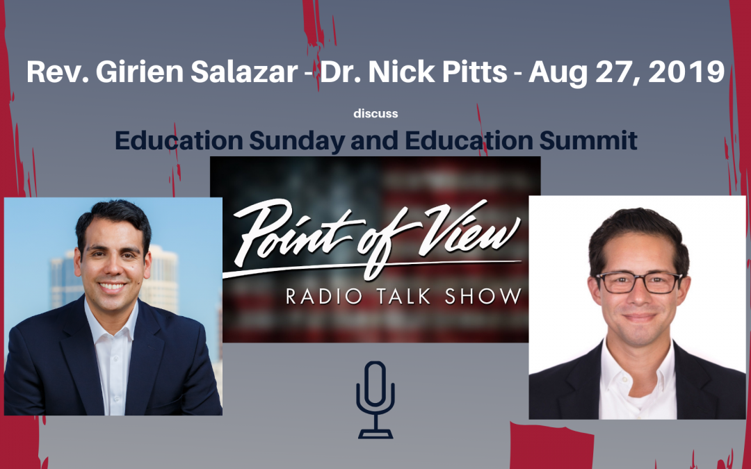 "Girien Salazar on Point of View's ""Millenial Roundtable;"" discusses Education Sunday and Education Summit"